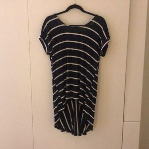 Anthropologie High Low Striped Tunic